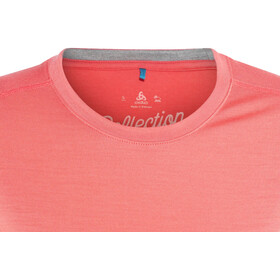 Odlo Natural 100% Merino Warm Crew Neck SS Shirt Women dubarry-grey melange